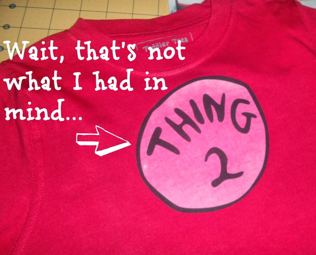 photo relating to Thing 1 and Thing 2 Logo Printable referred to as Deliver a No-Sew Dr. Seuss Blouse Factor Just one and Matter 2 - Only