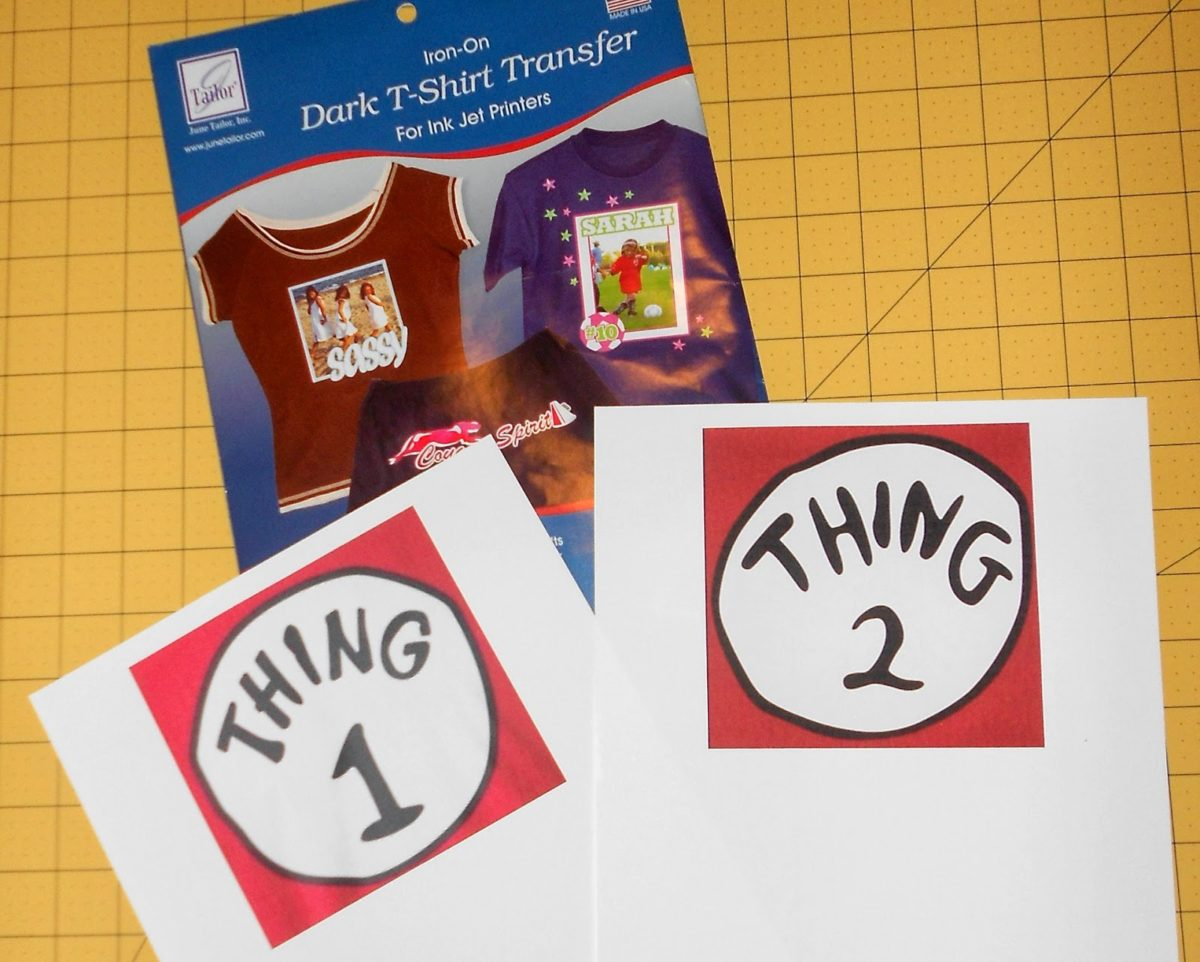 image regarding Thing 2 Logo Printable called Produce a No-Sew Dr. Seuss Blouse Issue One particular and Issue 2 - Particularly