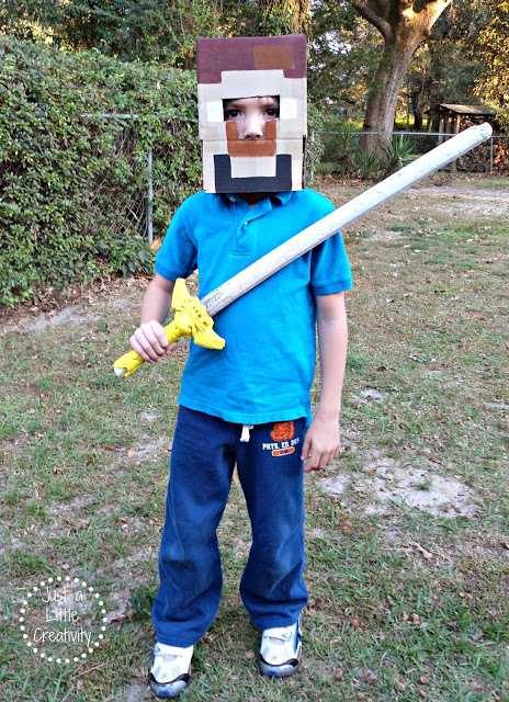 Over the years weu0027ve made many of our costumes but I believe of all of them this Minecraft Steve has been one of the biggest hits of all. & Make Your Own MINECRAFT Costume Easy DIY - Just a Little Creativity