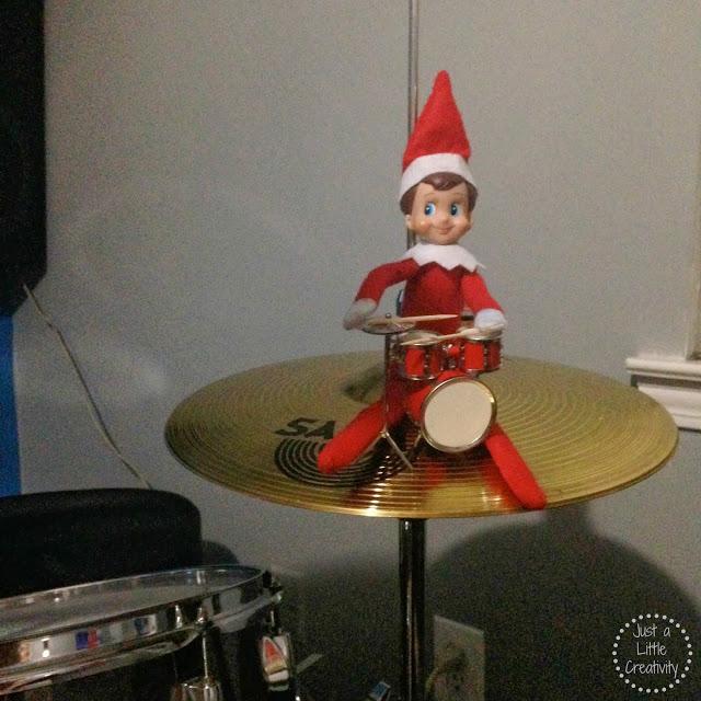 Our Elf On The Shelf Creative Ideas Ringo Bells Takes On Christmas 2013 Just A Little Creativity