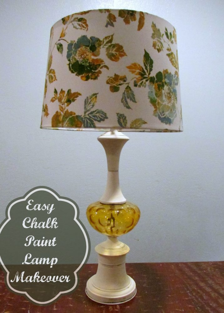 If You Ve Ever Wondered What Else Can Use Chalk Paint For Besides Wood Furniture Here S Your Answer In My Search A Perfect Lamp Front Room