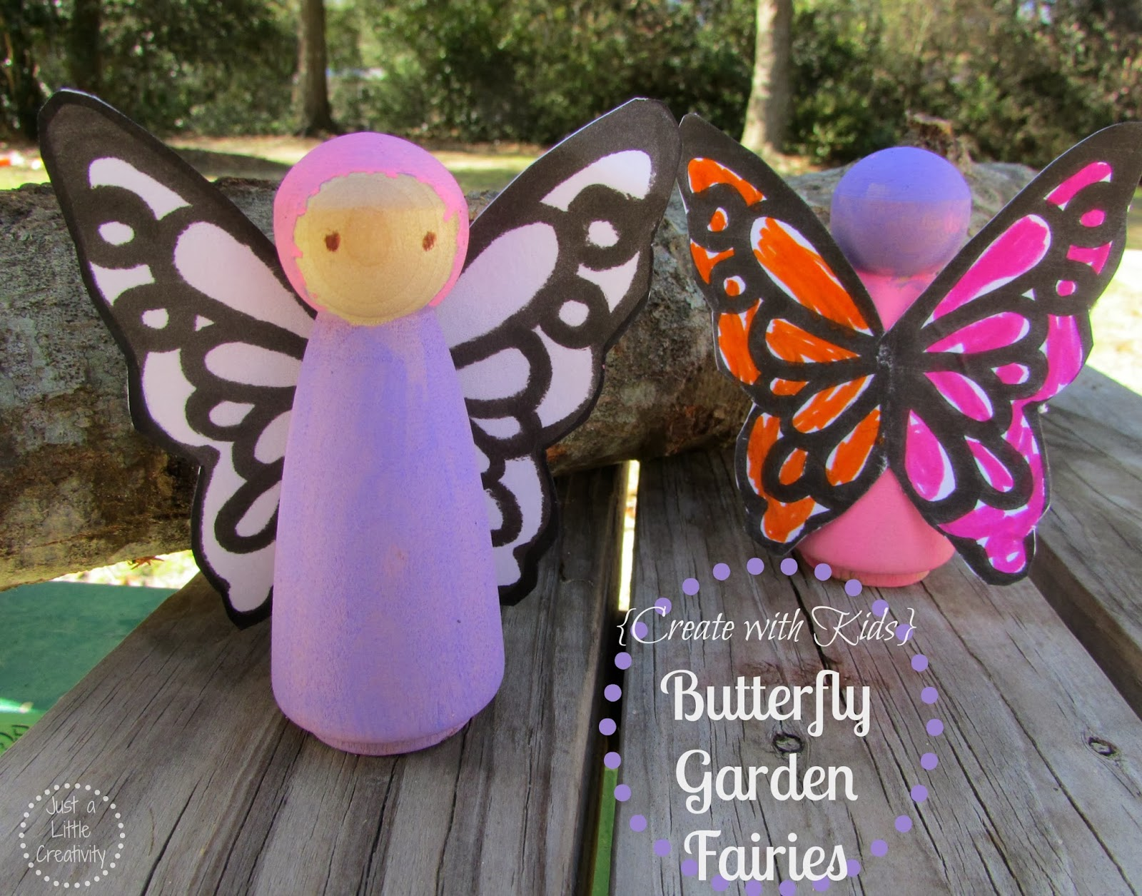 photo relating to Free Printable Fairy Wings identified as Butterfly Back garden Fairies Peg Those Manual With Totally free Wing