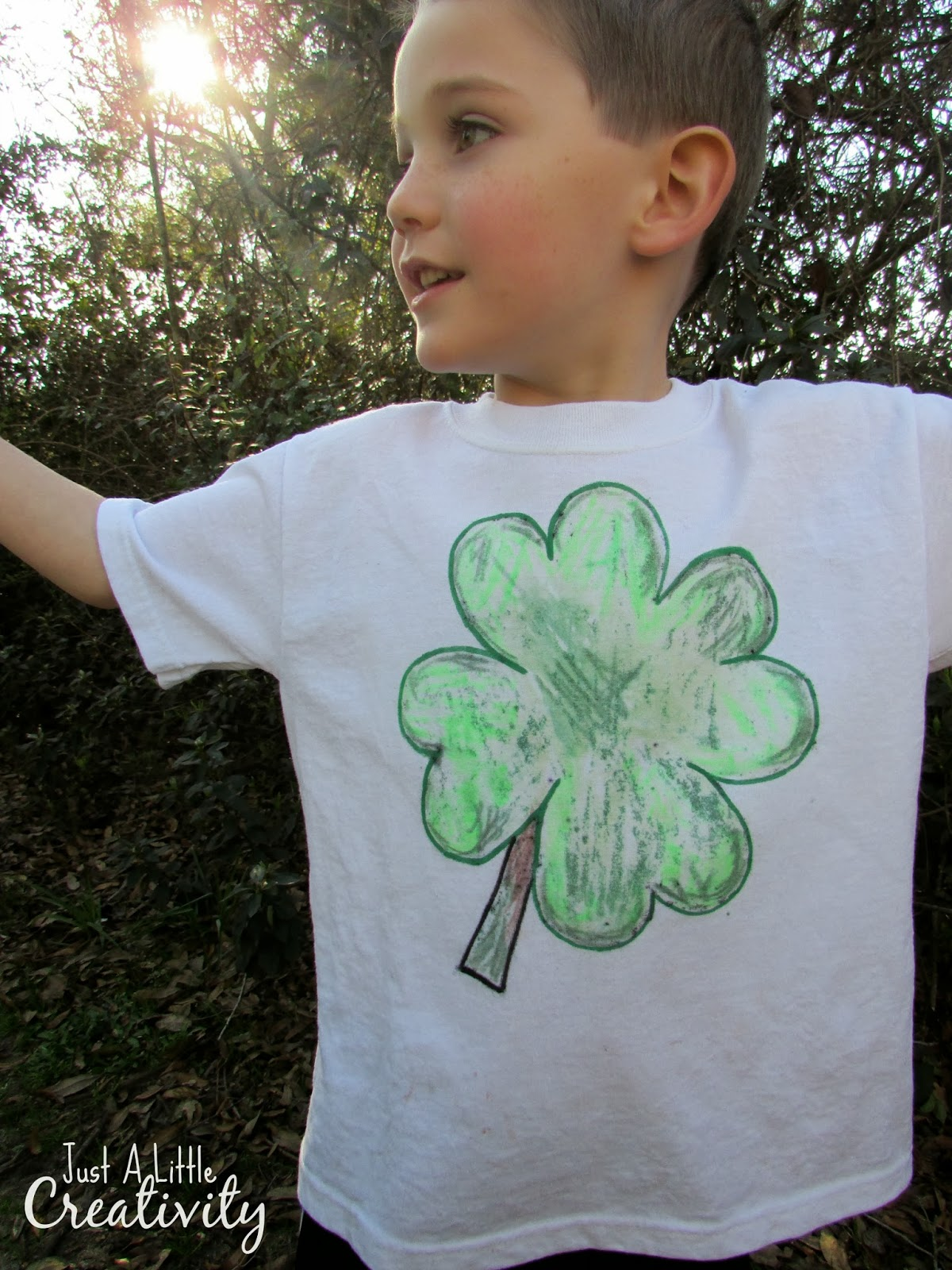how to make a st patricks day shamrock shirt fun for