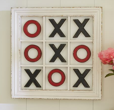 XOXO Wall Art- Pottery Barn Knock-off - Just a Little Creativity