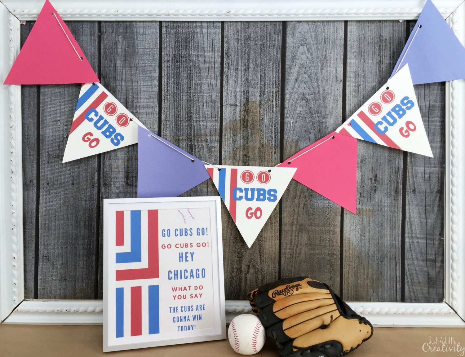 picture about Printable Cubs W Flag named No cost Printable Decorations for Your Chicago Cubs Baseball Social gathering