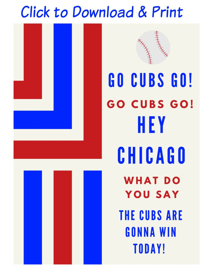 image relating to Printable Chicago Cubs Logo titled Free of charge Printable Decorations for Your Chicago Cubs Baseball Celebration
