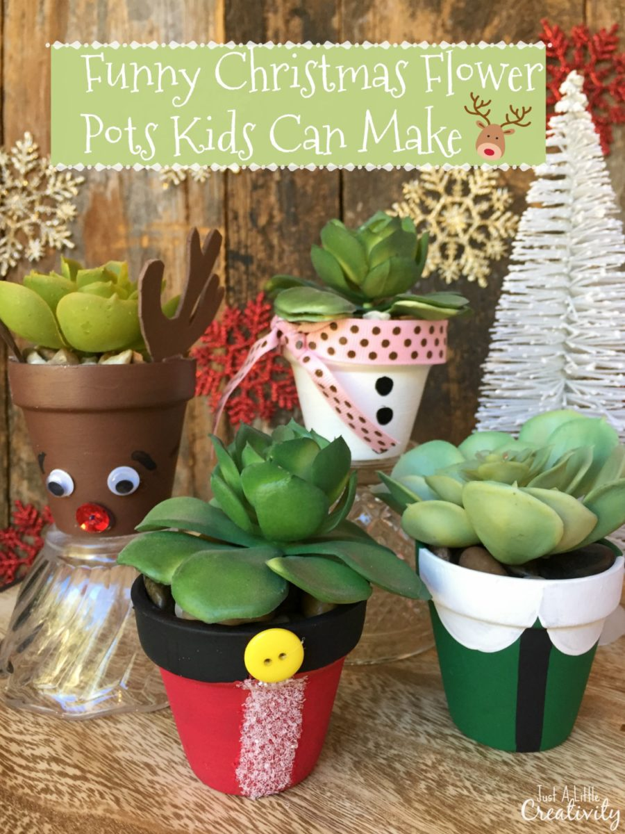 funny flower pots kids can make this christmas