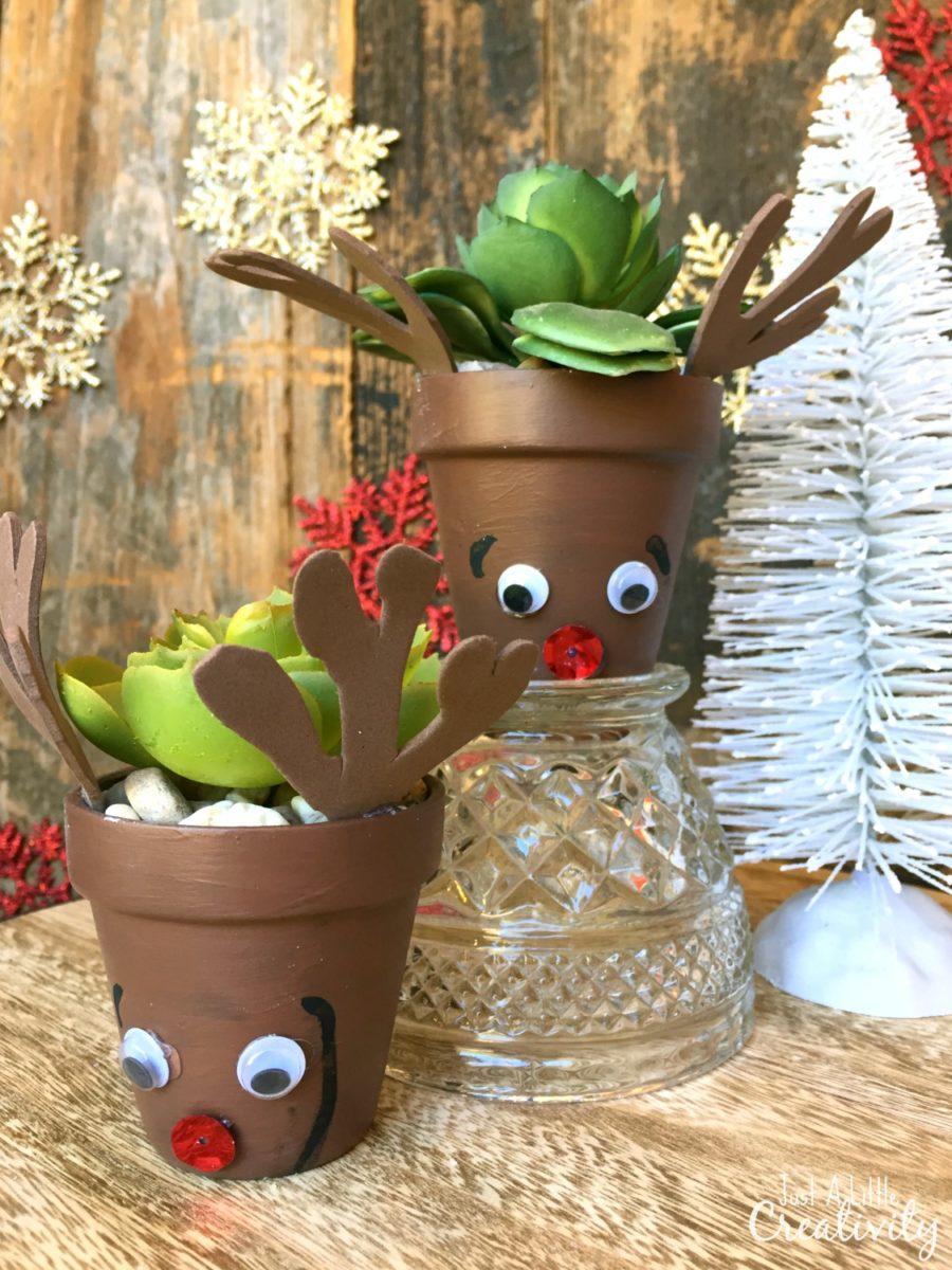 fun reindeer flower pots the kids can make