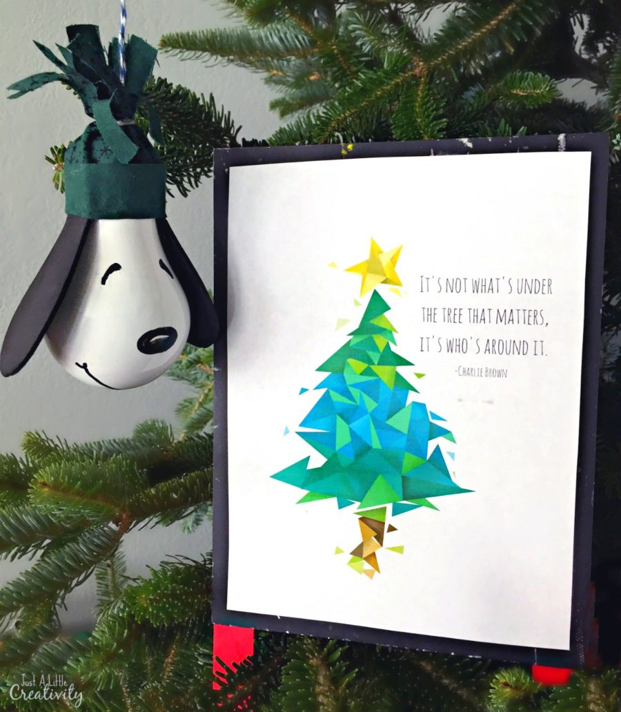 DIY Snoopy Ornament from A Charlie Brown Christmas Movie (Plus a FREE Bonus Printable)