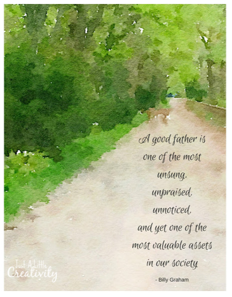 watercolor fathers day printables - 465×596