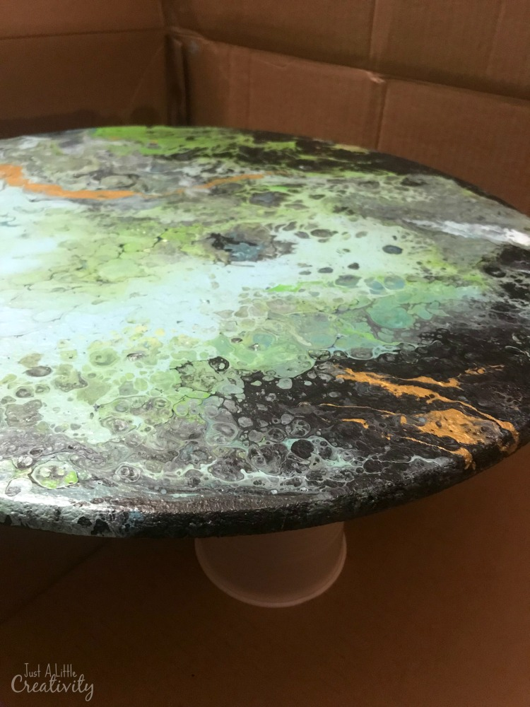 Fun Amp Funky Poured Painting Amp Resin Table Just A Little