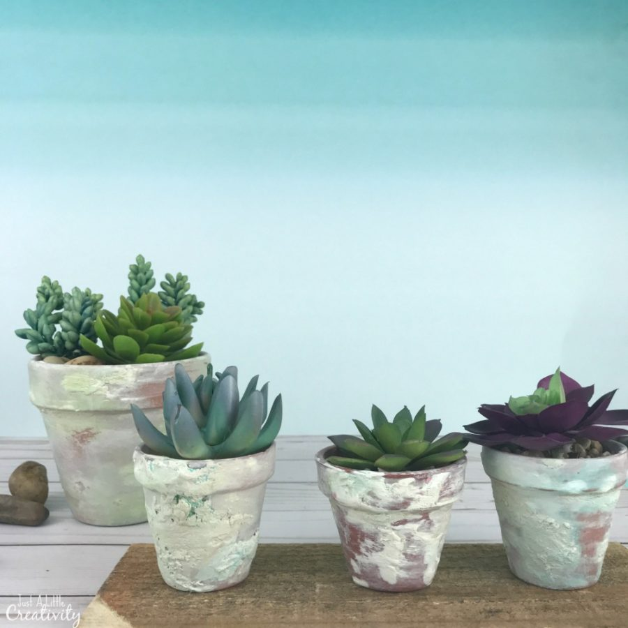 Magnolia Inspired Aged Terracotta Clay Pots