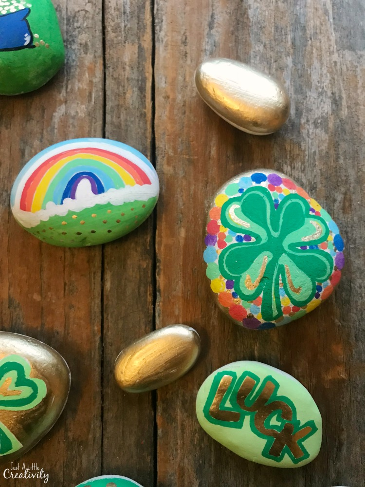 Painted Rock Ideas For St Patricks Day Just A Little Creativity