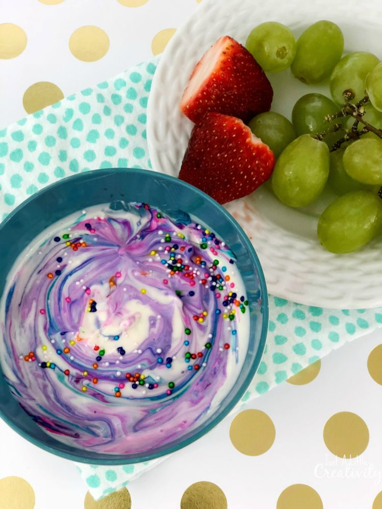 Rainbow Unicorn Fruit Dip Recipe