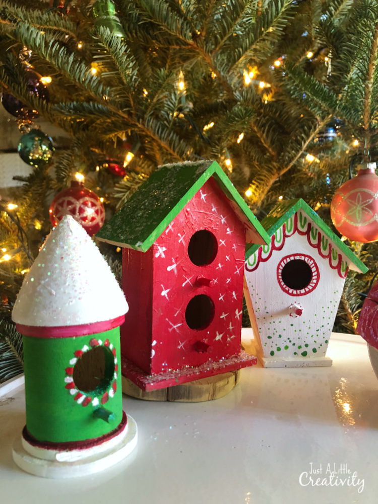 Christmas Birdhouses Crafts.Gingerbread Birdhouses Christmas Crafts For Kids Just A