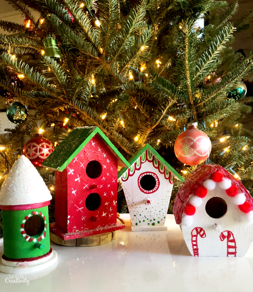 Christmas Birdhouses.Gingerbread Birdhouses Christmas Crafts For Kids Just A