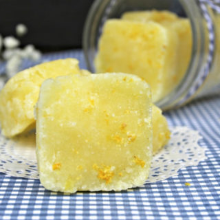 Essential Oil Sugar Body Scrub Cubes are refreshing on a dreary winter day during cold and flu season