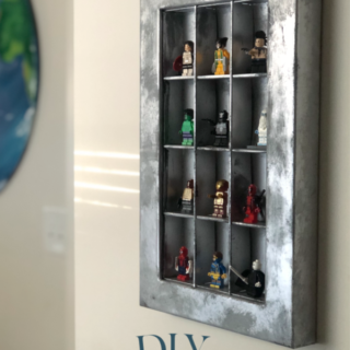 DIY LEGO minifigure display | create a LEGO mini fig display shadow box from an upcycled chocolate candy box