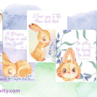 sweet bunny printable collection