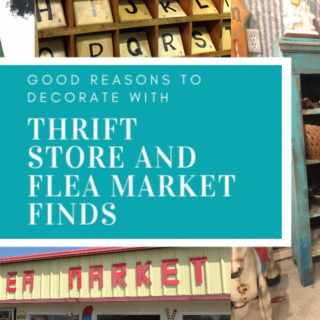 5 Really good reasons you should be decorating with thrift store and flea market finds